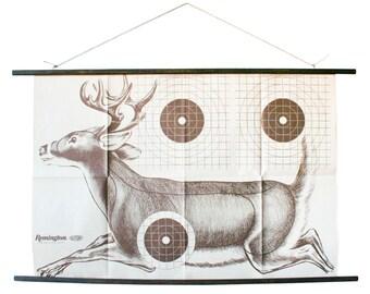 Running Buck Vintage Paper Shooting Target