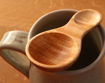 Coffee scoop , 1 tablespoon, Maple wooden spoon,  1 tablespoon , wood utensil, kitchen utensil , tea scoop , nut scoop , candy scoop