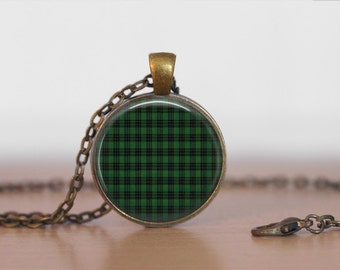 GRAHAM TARTAN Pendant Necklace / Scottish Tartan Jewelry / Ancestral Jewellery / Graham Clan /  Family Jewelry / Personalized Gift / boxed