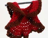 DIGITAL PATTERN:Baby Circle Shrug,Crochet Baby Sweater Pattern,Crochet Baby Clothes Pattern,Baby Ruffle Shrug,Baby Crochet Cardi Pattern
