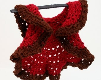 PDF DIGITAL PATTERN:Baby Circle Shrug,Crochet Baby Sweater Pattern,Crochet Baby Clothes Pattern,Baby Ruffle Shrug,Baby Crochet Cardi Pattern