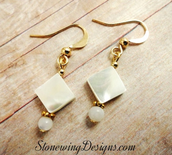 Short and Sweet Mother of Pearl Dangle Earrings