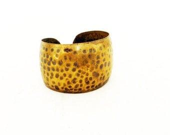 Vintage Hammered Brass Cuff Bracelet