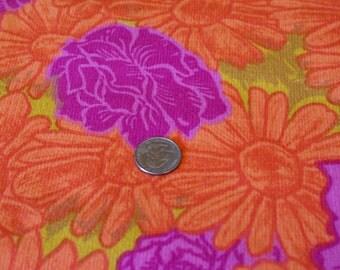 "VTG 35"" x 44""  Wide O'Krent Tahiti Melon MOD Decor Cotton Print"