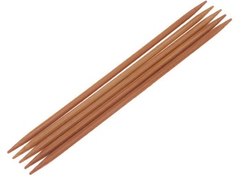 Bamboo Double-pointed Knitting Needles Pair 2.0mm - 6.5mm Sizes 0 - 10.5