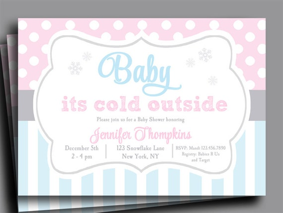 Baby Its Cold Outside Invitation Printable or Printed with FREE ...