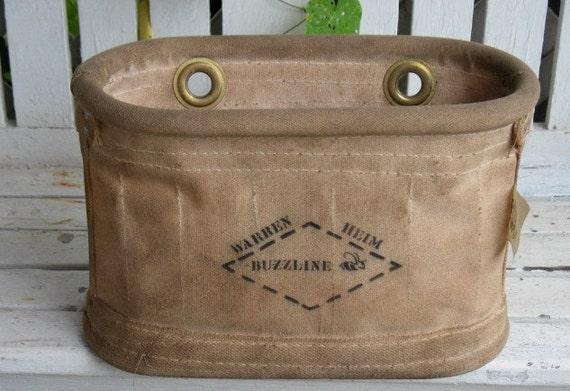 Vintage Canvas Tool Bag Buzzline Electrician Lineman Handyman