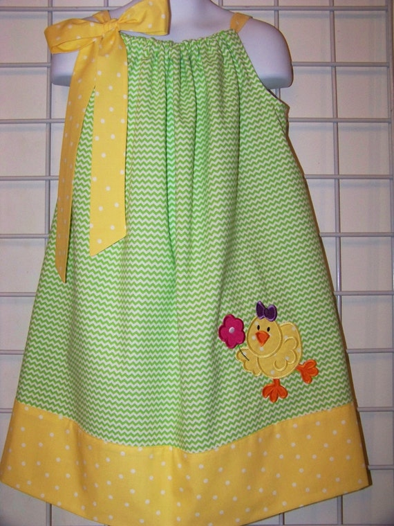 Cute Ideas For Pillowcase Dresses : Easter Pillowcase Dress Easter Dress Cute Easter Chick