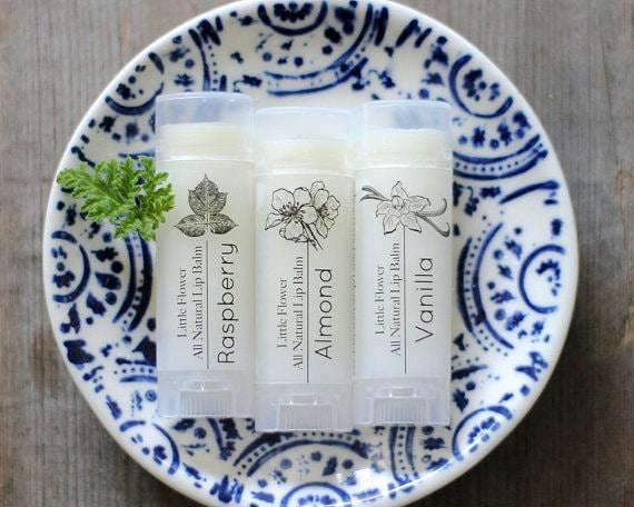 Lip Balm set of 3 beeswax lip treatment lip care organic lip balm, natural lip balm, essential oil lip balm, beeswax lip balm