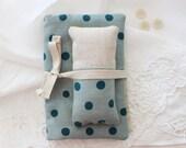 Sewing kit, travel sewing pouch, embroidery kit, pin cushion. Zakka. Stocking stuffer. Gift idea.