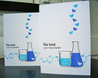 Valentine Card, Anniversary Card for Him,  Geeky I Love You Card, Geek Card, Science Beaker,  Card for Boyfriend