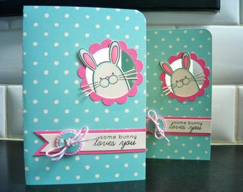 Bunny Card, Easter Card, Some Bunny Loves You, I Love You Card, Mother's Day Card, Anniversary Card