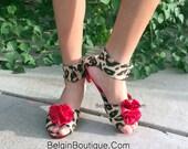 pageant OOC Christmas toddler girl baby girl high hill Dress shoes zebra animal print cheetah Leopard custom  baby 6m 12m 18m  2T 3T 4 5 6 7