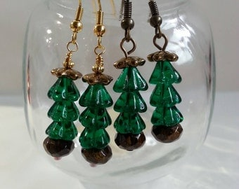 After Christmas Half Off Sale, Christmas Tree Earrings, Choice of Finish, Stocking Stuffers, Gifts for Her, Gifts Under 20