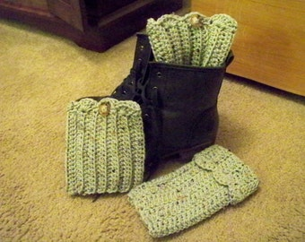 Fashion Fingerless Gloves and Boot Cuffs Set