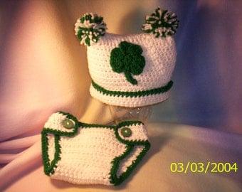 Crocheted Shamrock Set