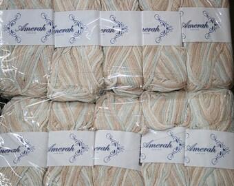 20 skeins of worsted weight silk yarn