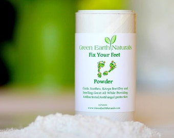 All Natural Foot Powder-Athlete's Foot-Gym Powder-Hot Foot Powder-Antifungal Powder-Cooling Powder