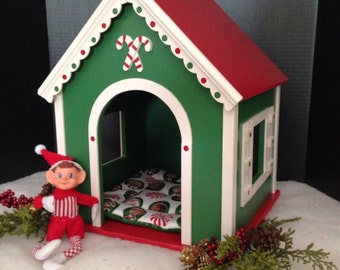 Christmas pet house house for 18 inch American girl pets and fantasies