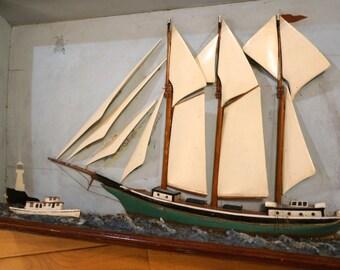 Victorian Ship Diorama - Model - Sea Picture