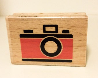 RETRO CAMERA Rubber Stamp Vintage photography Wood Mounted Scrapbooking Cards Pinterest Crafts project craft projects polaroid cameras NEW