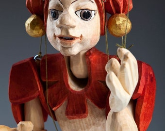 Jester Middle Wooden Marionette