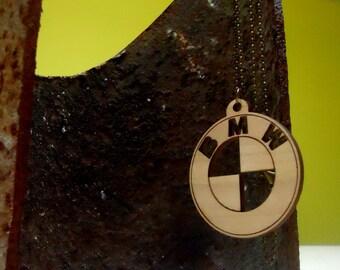 BMW DRIVER, Handmade, Automotive Pendant Necklace, BMW, wooden bmw emblem, logo, Woodworking, Woodcraft, Wood works, Wood, Wood design