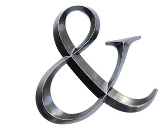 Metallic Black Ampersand Sign - Large Wall Ampersand - Wedding Decor - Gallery Wall Decor - Photo Prop - Anniversary Gift AND12