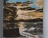 Sunset Point Tile Presque Isle Park Lake Superior Marquette,Mi.