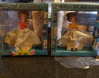 2 Vintage Dolls Of All Lands NIB