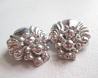 Vintage Barclay SilverTone Earrings