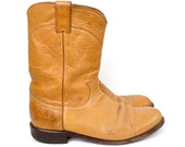 Justin Tan Leather Riding Boots, Size 8.5