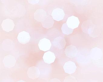 """Pastel Pink Bokeh background - baby pink 12"""" x 12"""""""