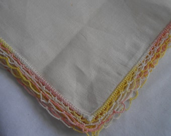 Hanky, Vintage, Cream Colored, Wedding, Bridal