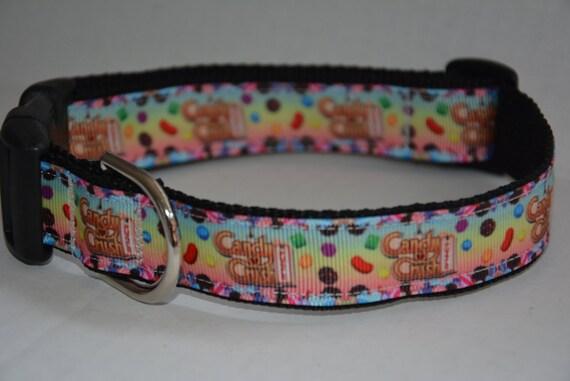 Personalized Dog Collar Candy Crush Logo