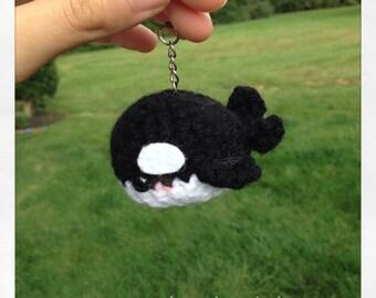 Kawaii Orca Plush Keychain