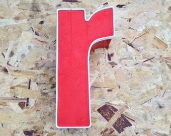 R -Reclaimed channel letter