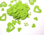 Paw Print Hearts, Heart Confetti, Dog Confetti, Dog Theme Birthday Party, Blues Clues Party, Baby Shower Decor