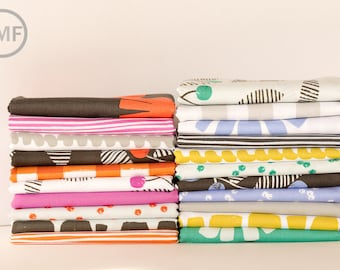 Half Yard Bundle Follie Full Collection, 21 Pieces, Lotta Jansdotter, Windham Fabrics, 100% Cotton Fabric