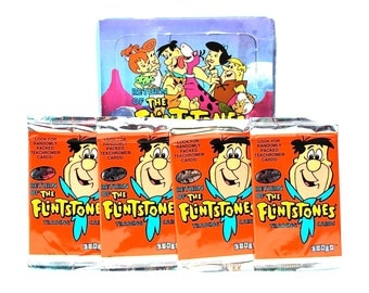 4 Flintstones Trading Card Packs by Cardz 1994