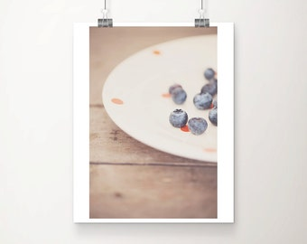 blueberry photograph kitchen wall art fruit photograph food photography still life photography blueberry print rustic decor