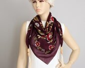 CLEARANCESALE -Tasseled ,fringed triangel scarf ,woman scarf,turkish scarf