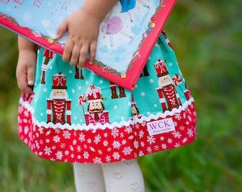Nutcracker Christmas  skirt (18 mos, 24 mos, 2T, 3T, 4T, 5t, 6, 7, 8, 10)