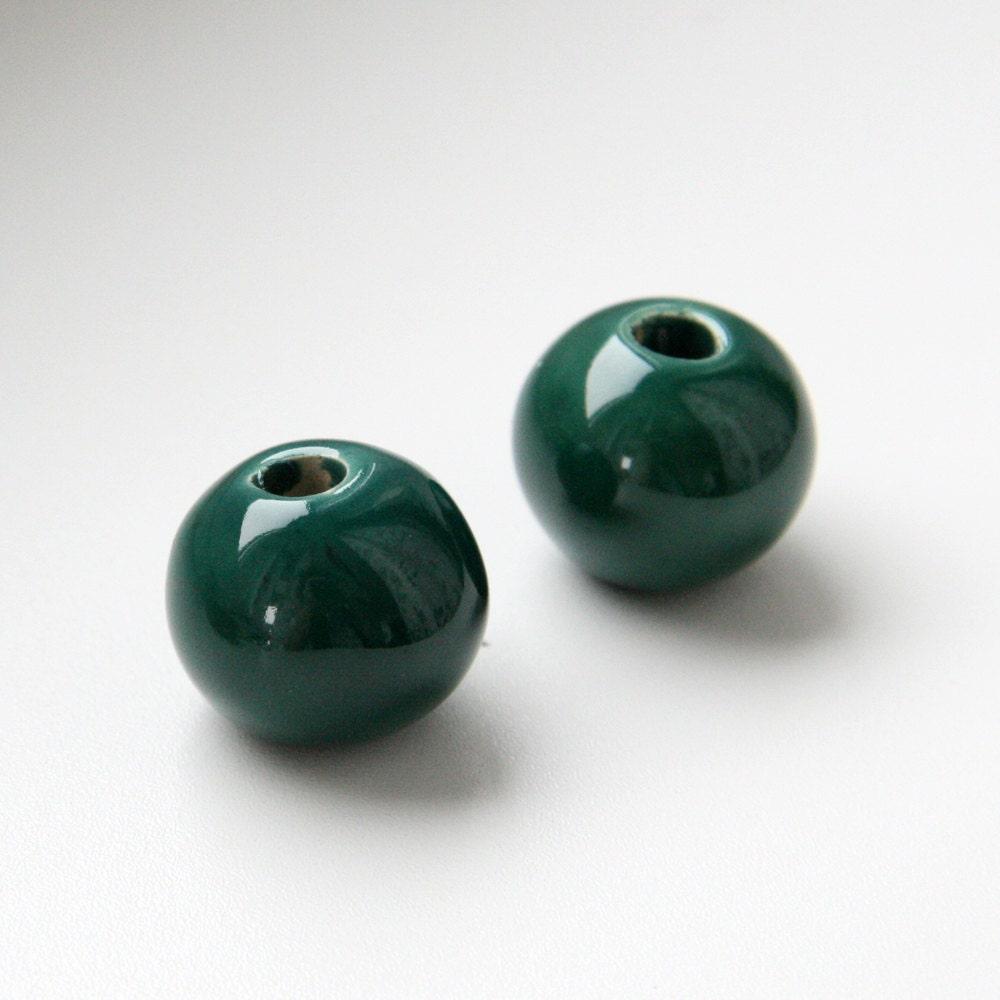 Ceramic Bead Beads: 50% OFF Mykonos Ceramic Beads Extra Large Green Ceramic Beads