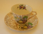 RESERVED - Teacup, Vintage Lord Nelson Ware POMPADOUR Teacup BCM