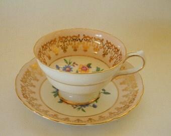 TEACUP, Vintage WESTBROOK Bone China Pink Teacup