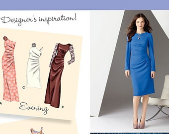 Side Gathered Dress Pattern Simplicity 2053 (Womens sizes 6-8-10-12-14)