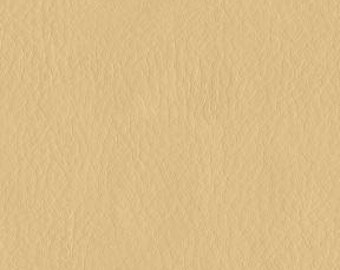Top Grain Simulated Leather Upholstery Fabric - Authentic Look and Feel of Leather - Duty Free Canada Fabric- Color:  Cream - per yard