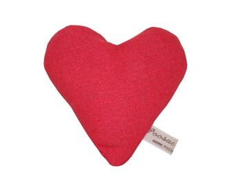HALF PRICE SALE, Red Love Heart French Lavender Sachet, I Love You Gift, Love Heart Christmas Gift for Girlfriend, for Wife