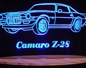 "1972 Camaro Z28 B Acrylic Lighted Sign 72  Acrylic Light Up LED Sign 13"" VVD1 Full Size USA Original"